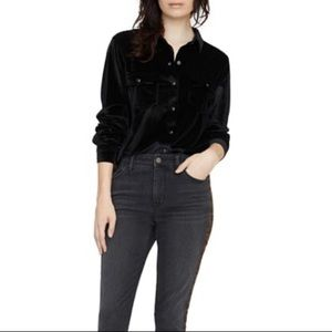 Sanctuary Velvet Button Down Top